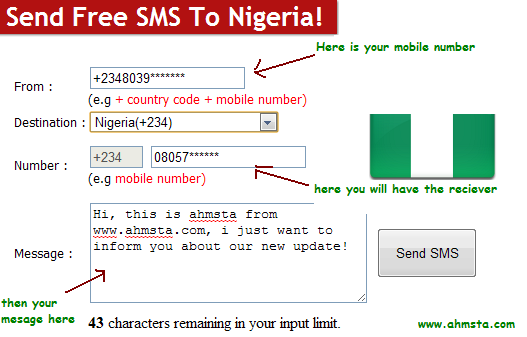 how to onlie sms send this technology how to work