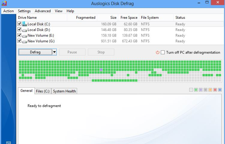 Auslogics Disk Defrag 5 Best Disk Defragmenting Tools For Windows 8