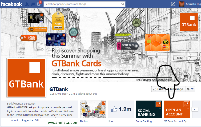 GTBank Facebook official page How To Open a GTBank Account Online