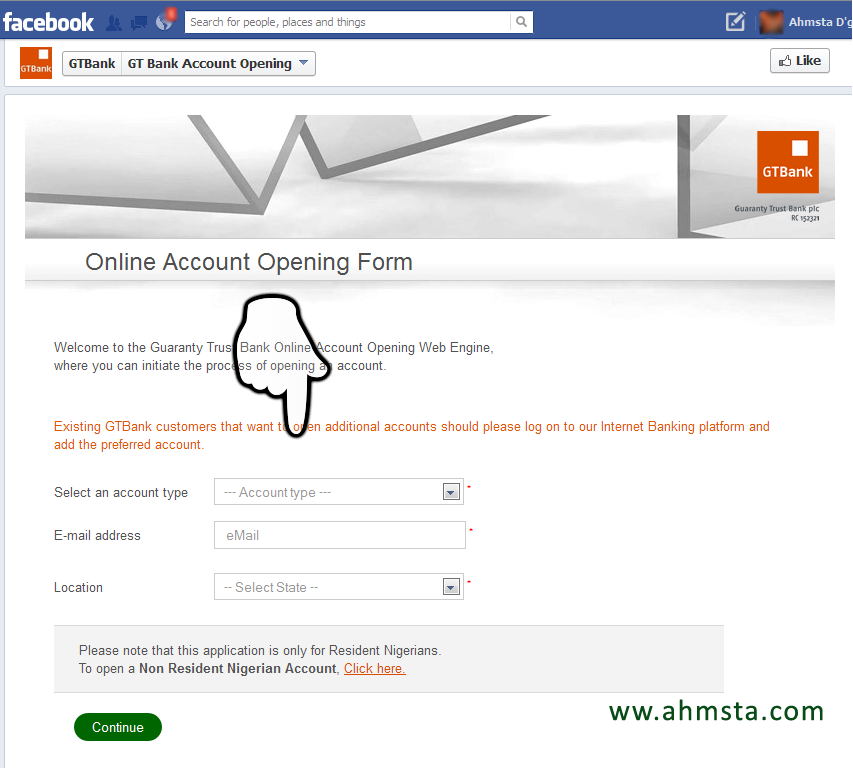 GTBank online account opening form How To Open a GTBank Account Online