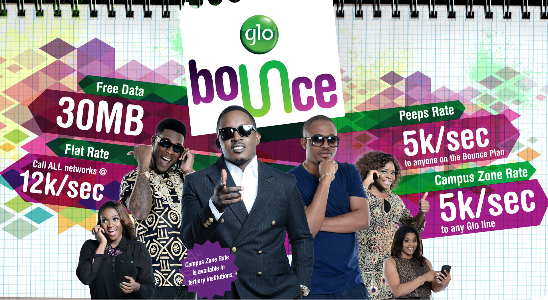 newBOUNCE11  Glo Bounce Tariff: Call For 12k/sec To All Networks and Get 30MB