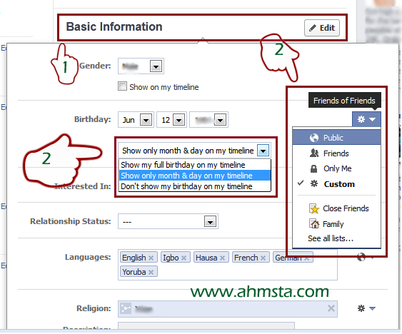 How to Hide Your Birth Date on Facebook 2 How to Hide Your Birth Date on Facebook